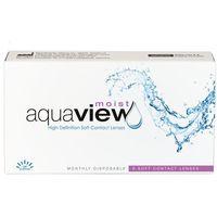 Soczewki kontaktowe, AquaView Moist 12 szt.