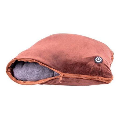 Koce i pledy, Zestaw - poduszka masująca i koc inSPORTline Trawel, Ciemny brązowy