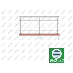 Balustrada nierdzewna AISI304, D42,4/4xd12/H900/L3