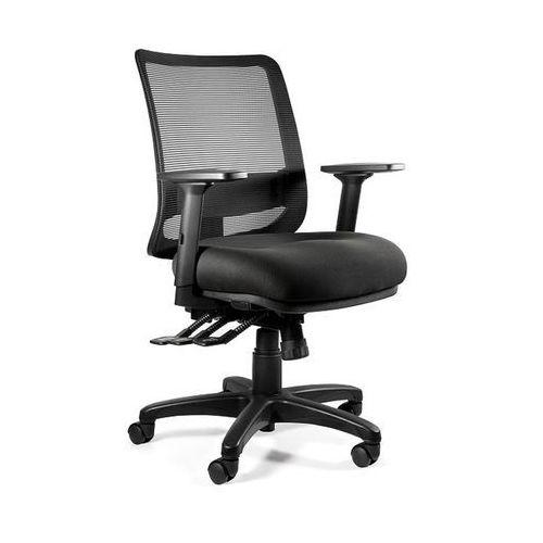 Fotele i krzesła biurowe, Fotel Unique SAGA PLUS M - 18 KOLORÓW (Tkanina BL) wysuw siedziska