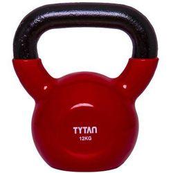 Hantla Kettlebell Winyl Żeliwny Tytan Sport odważnik 12 kg