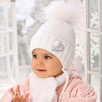 Zestawy dodatków dla dzieci, Komplet AJS 38-402 Czapka+szalik ROZMIAR: uniwersalny, KOLOR: wielokolorowy, AJS