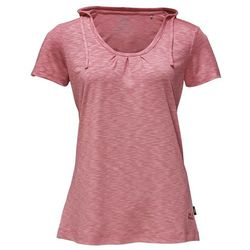 Damska koszulka z kapturem TRAVEL HOODY T WOMEN rose quartz - XS