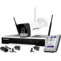 Zestawy monitoringowe, Hikvision Zestaw monitoringu bezprzewodowego 1 kamera WiFi Full HD 1080p 1TB