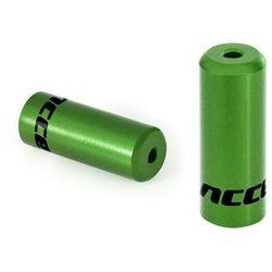 Końcówki pancerza Accent aluminiowe 4 mm, przerzutkowe, 5 szt. zielone