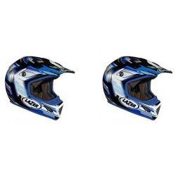 Kask mot.LAZER MX7 Evo Space Runner biały/nieb.