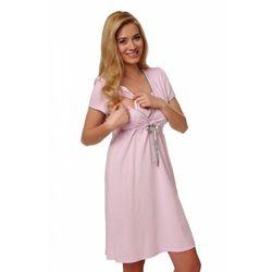 Italian Fashion felicita krótki rękaw różowy koszula nocna