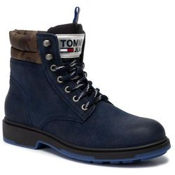 Trapery TOMMY JEANS - Casual Suede Boot EM0EM00315 Ink 006