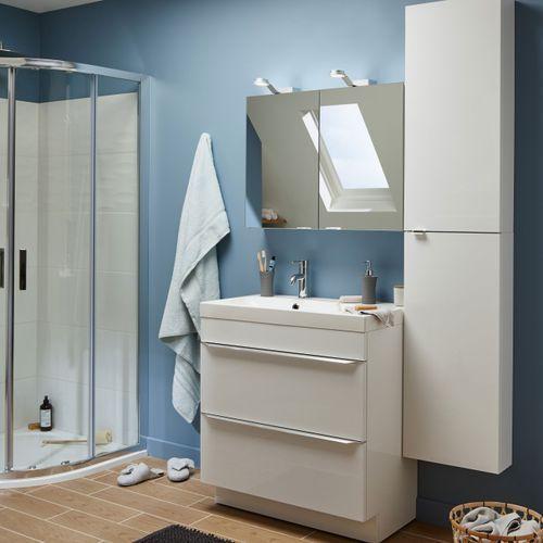 Szafki łazienkowe, Szafka pod umywalkę GoodHome Imandra stojąca 80 cm biała
