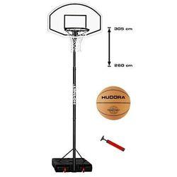Mobilny kosz do koszykówki Hornet XXL Hudora 305 cm z piłką i pompką