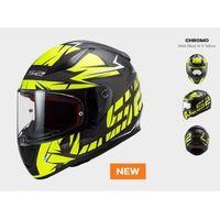 Kaski motocyklowe, KASK MOTOCYKLOWY KASK LS2 FF353 RAPID CROMO BLACK H-V YELLOW nowość: 2020