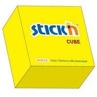 Notesy, Notes samoprzylepny, 76 mm x 76 mm, żółty neonowy - 400 kartek - Hopax