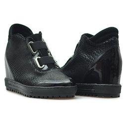 Sneakersy Eksbut 66-4297-B57/121/136 Czarne lico + ocieplina