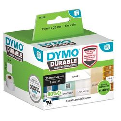 Oryginalne etykiety polipropylenowe DYMO LW 25mm x 25mm durable 1933083 białe/czarny nadruk