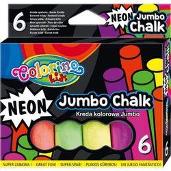 Kreda colorino kids neonowa jumbo 6 sztuk