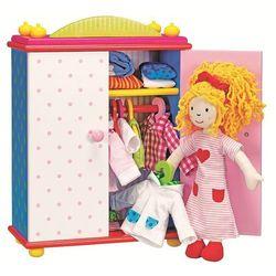 Miękka lalka Karry z szafą pełną ubrań