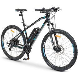 Rower elektryczny INDIANA E-MTB 1.0 M19 Czarno-niebieski + Zamów z DOSTAWĄ W PONIEDZIAŁEK!