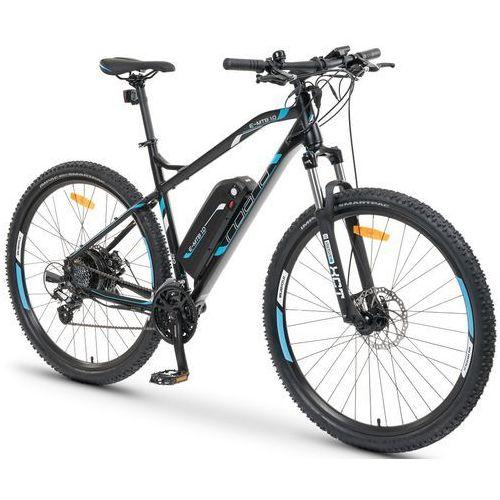 Rowery elektryczne, Rower elektryczny INDIANA E-MTB 1.0 M19 Czarno-niebieski