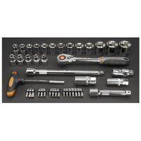 Zestawy narzędzi ręcznych, Zestaw kluczy nasadowych NEO 1/2 cala 08-621 (42 elementy) DARMOWY TRANSPORT