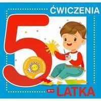 Książki dla dzieci, Ćwiczenia 5-latka + naklejki (opr. broszurowa)