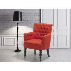 Fotel wypoczynkowy czerwony do salonu tapicerowany - ALESUND