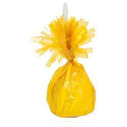 Obciążnik foliowy do balonów napełnionych helem - żółty - 176 g.