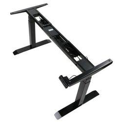 Dwusilnikowy stelaż metalowy biurka (stołu) z elektryczną regulacją wysokości, elektryczny, UT05-3T/B, kolor czarny - noga 3-segmentowa