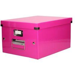 Pudełko C&S uniwersal średnie różowe WOW Leitz