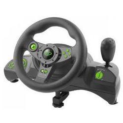 Kierownica Esperanza EGW102 Nitro pro PC, PS3 + pedály (EGW102 - 5901299946893) Czarny