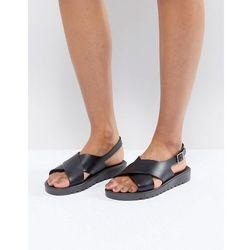 ASOS FREQUENT Jelly Flat Sandals - Black