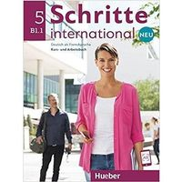 Książki do nauki języka, Schritte international Neu 5 KB+AB+CD PL HUEBER - Praca zbiorowa (opr. broszurowa)