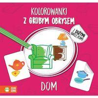 Kolorowanki, Dom Kolorowanki Z Grubym Obrysem - Agnieszka Matz