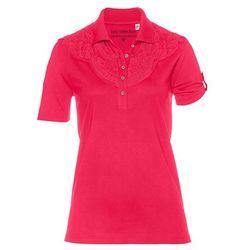 Shirt polo bonprix czerwień granatu
