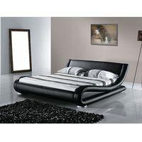 Łóżka, Łóżko skórzane 180x200 cm ze stelażem AVIGNON
