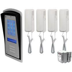 Zestaw 4-rodzinny panel domofonowy wielorodzinny z szyfratorem RADBIT BRC10 MOD