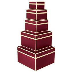 Pudełka prezentowe Die Kante 5 szt. burgund