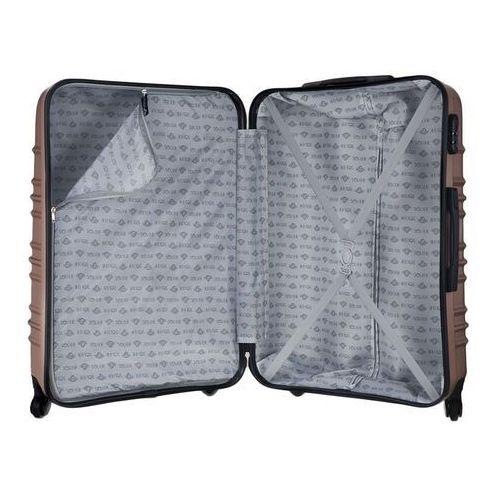 Torby i walizki, Mała walizka kabinowa abs 55x37x24cm stl838 rose gold