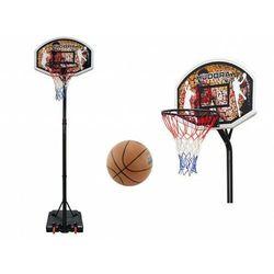 Zestaw do koszykówki HUDORA CHICAGO - kosz obręcz tablica stojak piłka