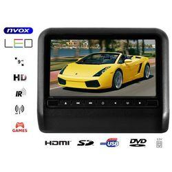 "NVOX DV9917HD BL Monitor na zagłówek samochodowy LCD 9"" cali LED HD DVD USB SD IR FM GRY 12V"