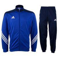 Piłka nożna, Dres juniorski Adidas Sereno14 PES F49716 niebieski