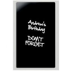 Szklana tablica do pisania, 780x480 mm, czarna
