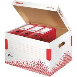 Pudło do archiwizacji ESSELTE SPEEDBOX mieści 7 segregatów 75 mm biały - X07653