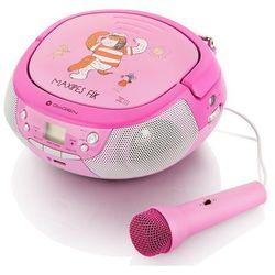 Radio z CD i mikrofonem dla dzieci różowe GOGEN