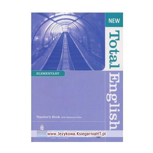 Książki do nauki języka, New Total English Elementary, Teacher's Book (opr. miękka)