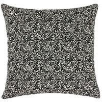 Poduszki, Bellatex Poduszka jasiek Ivo koronka czarny na jasnym tle, 45 x 45 cm