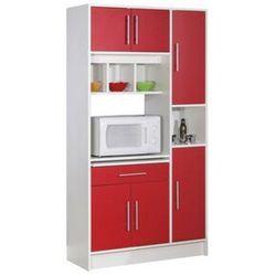 Bufet kuchenny MADY - 5 drzwi, 1 szuflada - Kolor czerwony