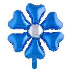 Balon foliowy Kwiatek niebieski - 55 cm - 1 szt.