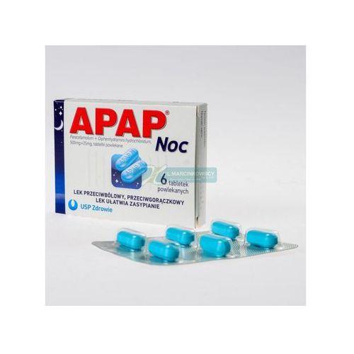 Leki na gorączkę, APAP NOC 6 tabletek