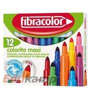 Mazaki i flamastry, Mazaki Colorito maxi 12 kol. FIBRACOLOR