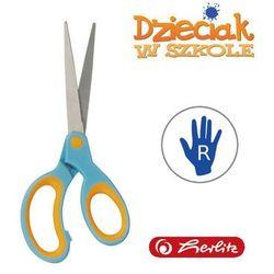 Nożyczki szpiczaste, błękitno-pomar 17,5cm Herlitz - błękitno-pomarańczowe